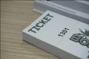 Talonario de tickets